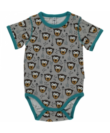 Romper Bodysuit SS Maxomorra, Little Arrow Monkey 50-56