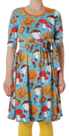 Dress LS with scooped neck Ladies, Duns Sunflower blue