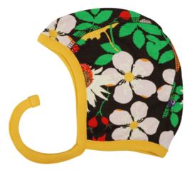 Hat/ baby cap/ Bonnet Duns, Autumn Flowers brown