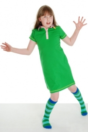 Jurk / dress DUNS Sweden, Green with Dots collar 80 of 86