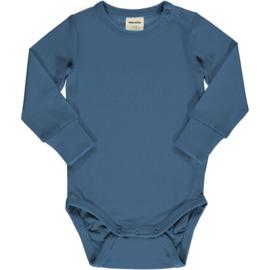 Romper / bodysuit LS Meyadey by Maxomorra,  Moonlight blue