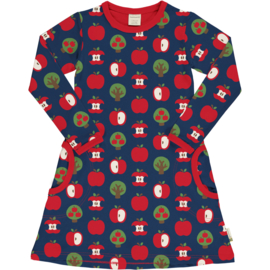 Jurk / Dress LS Maxomorra, Apple