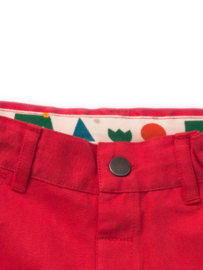 Broek / Shorts  Little Green Radicals, Pilar Box Red Shorts 9-12mn
