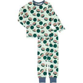 Pyjama Set LS Meyadey by Maxomorra, Watermelon