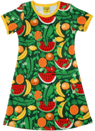 Jurk / Dress  short sleeves DUNS Sweden, Tropical Punch Swamp Green 86 of 122