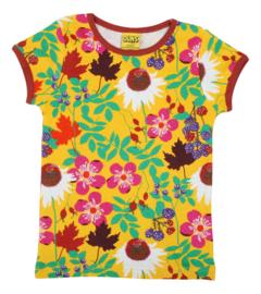 T-shirt DUNS Sweden, Autumn flowers Yellow