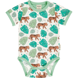 Romper Bodysuit SS Meyadey by Maxomorra, tiger Jungle 50-56 of 74-80