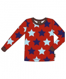 T-shirt long / longsleeve Maxomorra, Stars 74-80