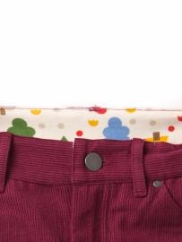 Broek  Little Green Radicals, Berry Corduroy Jeans 4-5y, 5-6y of 6-7y