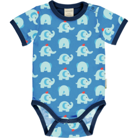 Romper Bodysuit SS Maxomorra, Elephant friends 50-56 of 86-92