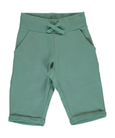 Broek / sweatshorts knee Maxomorra, Pale army 86-92