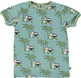 T-shirt  Smafolk, Surfercar ether blue 1-2y of 3-4y