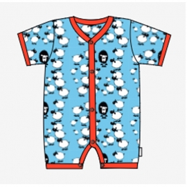 Jumpsuit short Snoozy, Blue sheep 50-56 of 74-80