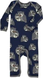 Jumpsuit / bodysuit Smafolk, Owls Medieval blue