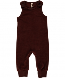 Playsuit Velours Maxomorra, Dark Brown 50