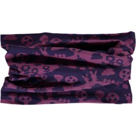 Sjaal, Scarf  velour Maxomorra, Landscape purple mono
