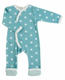 Babypakje Organics For Kids, blauw met witte stip 6-12mnd