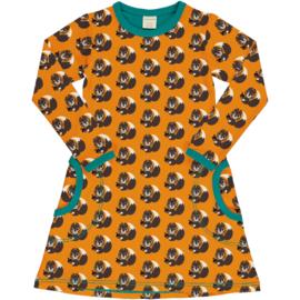 Jurk / Dress LS  Maxomorra, Squirrel