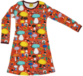 Jurk / Dress LS DUNS Sweden, Mushroom Forest dark orange