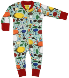 Jumpsuit/ Zipsuit DUNS Sweden,  Mushroom Forest jade 68, 92, 104, 116 of 128