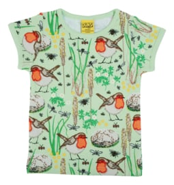 T-shirt DUNS Sweden, Robin Nile green