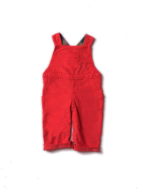 Dungeree, overall Little Green Radicals, Red classic Corduroy met lining! tot 2/3yr