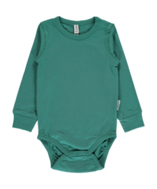 Romper / body LS Maxomorra, Green petrol