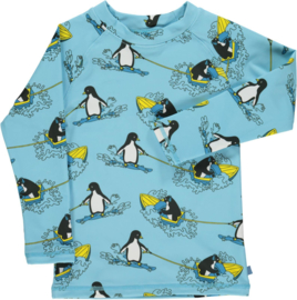 UV swimshirt Smafolk, Surf Penguin Air blue
