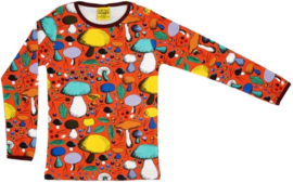 T-shirt Long  Duns Sweden, Mushroom forest dark orange 86, 110 of 134