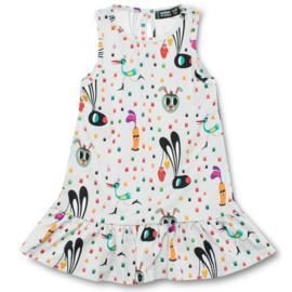 Dress,  no sleeveGathered dress Raspberry Republik, Carrot Crunch  92-98
