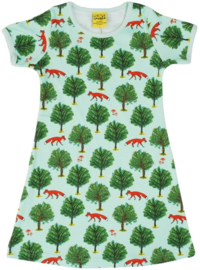 Jurk / Dress  short sleeves DUNS Sweden, Fox and tree
