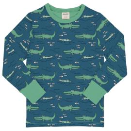 T-shirt long / longsleeve Meyaday by Maxomorra, Crocodile water