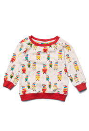 Sweatshirt Little Green Radicals, Brushed Cotton Tiger   6-7y