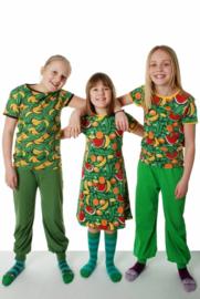 Jurk / Dress  short sleeves DUNS Sweden, Tropical Punch Swamp Green 86