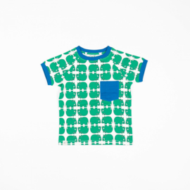 T-shirt Albababy, Simon Pepper green Wanne be an animal
