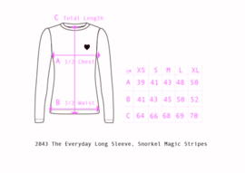 Longsleeve Ladies AiA all I adore by Alba of Denmark, The everyday Long Sleeve Snorkel Magic stripes