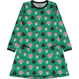 Jurk / Dress LS Maxomorra, Mushroom 86-92