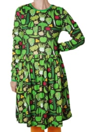 Jurk /LS gathered dress DUNS Sweden, Eat your greens