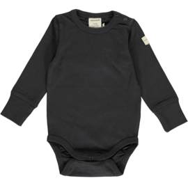 Romper / bodysuit LS Maxomorra, graphite 50-56 of 86-92
