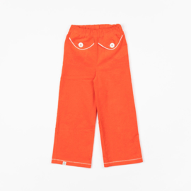 Broek Albababy, Flower Power pants Spicy Orange