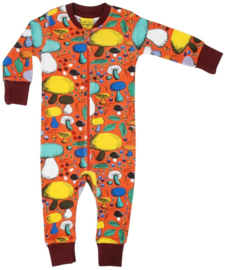 Jumpsuit/ Zipsuit DUNS Sweden,  Mushroom Forest Dark orange 74, 98, 110 of 122