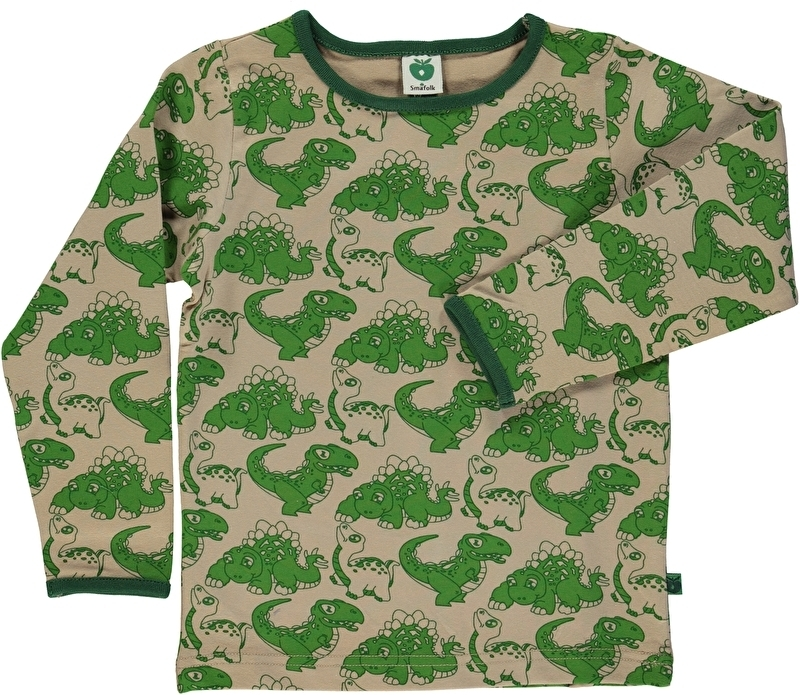 T-shirt long Smafolk, dino sand  92-98