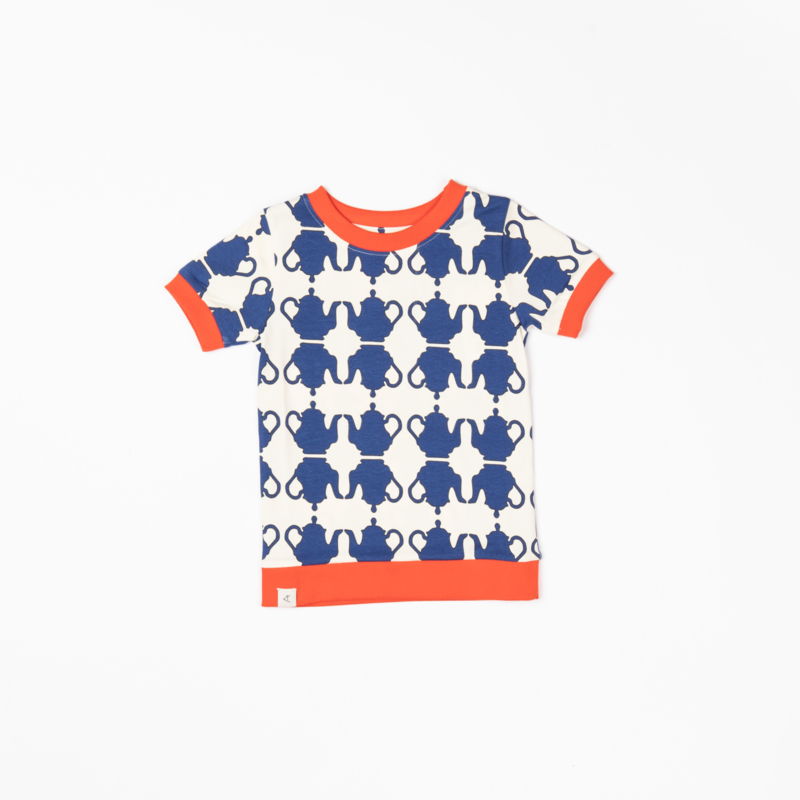 T-shirt Albababy, Vesta Solidate Blue Teapots