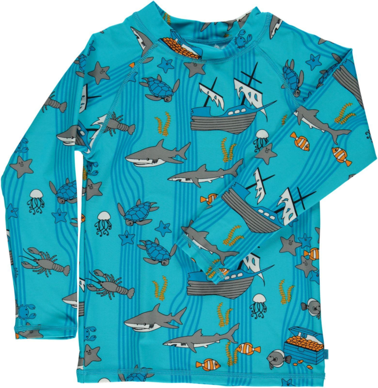 UV swimshirt LS Smafolk, Sea World blue atoll