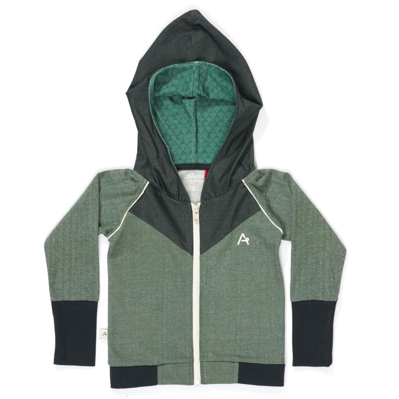 Hoodie Albababy, Haldor Zipper Hood Duck Green 80