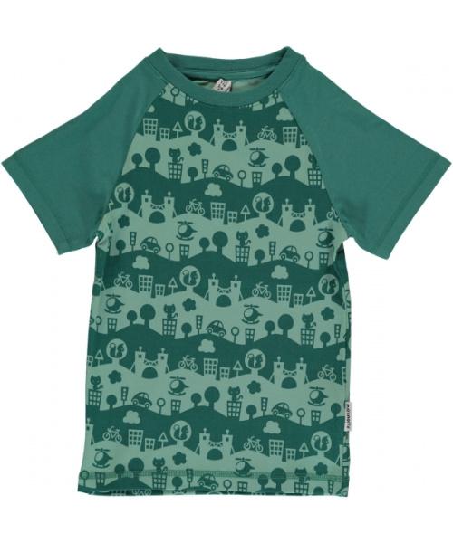 T-shirt Slim Maxomorra, City Landscape
