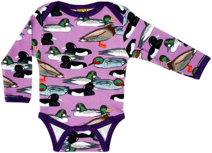 Romper/ Body LS Duns, Duck Pond purple
