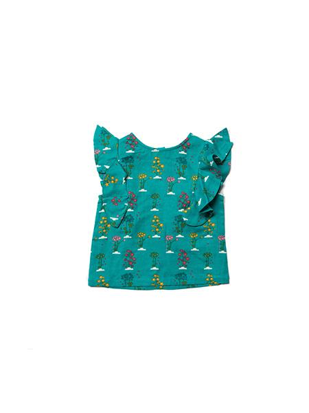 T-shirt Little Green Radicals, Spring bloom Falling water top