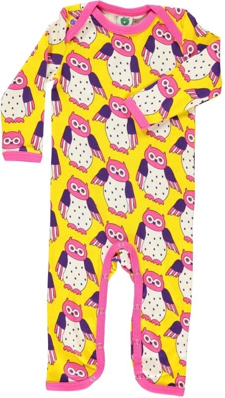 Jumpsuit / bodysuit Smafolk, owl yellow  80