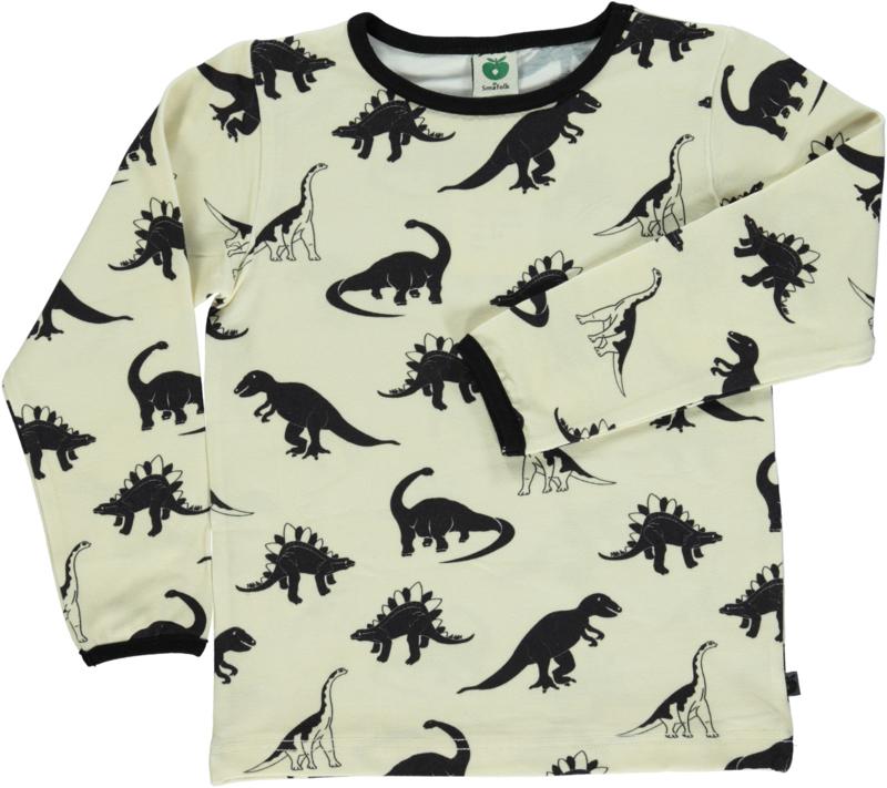 T-shirt long Smafolk, Dinosaurs Cream 86-92 of 92-98